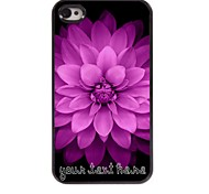 Personalized Phone Case - Pink Flowers Design Metal Case for iPhone 4/4S
