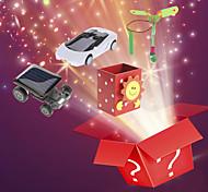 3pcs noël sac chanceux - gadgets solaires, boîte à musique, gadgets volants (modèle aléatoire)