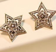 Pentagram Hollow Out Han Edition Star Earring