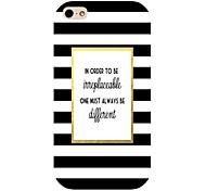 strisce bianche e nere del modello di caso per iPhone 4 / 4S