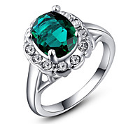 Roxi® Silver Green Diamond Ring