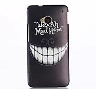 Cartoon Crazy Teeth Pattern PC Hard Back Case for HTC M7