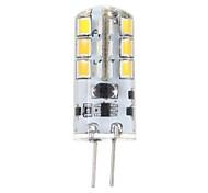 3W G4 Bombillas LED de Mazorca T 24 SMD 2835 200 lm Blanco Cálido DC 12 V