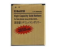"""Replacement 3.7V """"2850mAh"""" Battery for Samsung Galaxy S3 Mini / I8190 / I8160 (Golden)"""