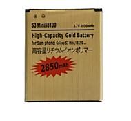 """reemplazo de la batería de 3.7v """"2850mAh"""" para la galaxia s3 de mini / i8190 / i8160 (de oro)"""