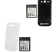 Minismile™ 3.7V 4300mAh Extended Battery with Back Cover for Samsung Galaxy S3 / I9300 (Assorted Colors)