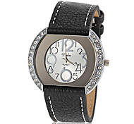Women's Diamante Case PU Band Quartz Wrist Watch (Assorted Colors) Cool Watches Unique Watches