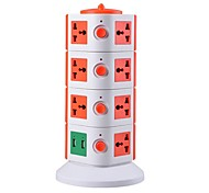 Overload Protector 5V/2.1A 4 Floor with 15 Universal Outlets and 2 USB EU Adapter Power Strips