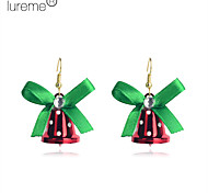 Lureme®Christmas Bell gold Plated Copper Earrings
