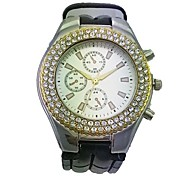 Women's Alloy Case Round Dial PU Band Quartz Watch Women's Watch Fashion Watch Gift Watch