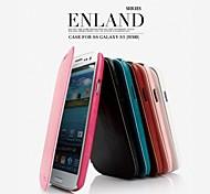 promotion huit yl étuis en cuir série de téléphone pour samsung i9300 de la (couleurs assorties)