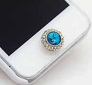 1Pcs Satellite Stone Rhinestone 1cm Buttons Stickers for iPhone and Others