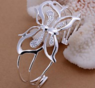 Facing The Butterfly Silver Plated Bracelet