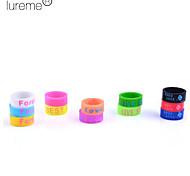 Lureme®Unisex Letters Print Silicone Ring (Random Color)