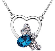 Women's Fashion Cute dragonfly crystal necklace Made with Swarovski Elements