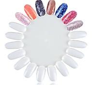 1шт ложные белые советы советы ногтей Nail Art для ногтей практике Лак для ногтей dispay цвет ногтей практике