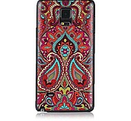 Doopootoo™ Flower Combinations Face Pattern Plastic Back Hard Case Cover For Samsung Galaxy Note 4