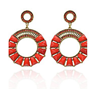 Women's Fashion  Vintage  Circle Diamante Earrings(More Colors)