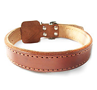 Dog Collar Brown Genuine Leather