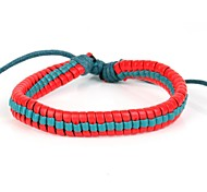 High Fashion Super Match Leather Braided Bracelet Rose Torquise Blue Color(1 Piece)