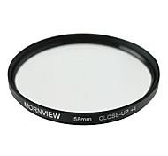58mm mornview conjunto de primer plano del filtro de la lente (+ 2, + 4, + 8)