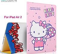 X-Doria Cute Cartoon Hello Kitty Smart Dormancy Ultra-Thin Stents Smart Case for iPad Air 2(Assorted Color)