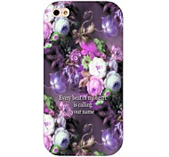 Purple Flower Pattern Back Case for iPhone 4/4S