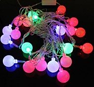 pequeña hockey sobre hielo 5m 4.8w Flash navidad 20 liderada por lámpara LED tira luz rgb (enchufe de la UE, ac 110-220v)