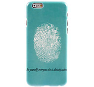 Fingerprint Design Hard Case for iPhone 6 Plus