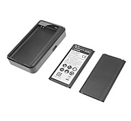 3800mAh Cell Phone Battery for Samsung S5/i9600 (2 Batteries,1 Charger)