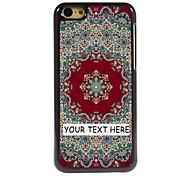 personalizzato phone case - tappeto caso di disegno del metallo rosso per iphone 5c