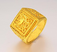 Good Luck Constantly Male Domineering 24 K Gold Ring