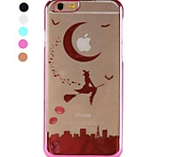 Witch Laser Etching PC Back Cover for iPhone 6(Assorted Colors)