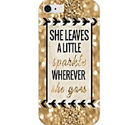 Black And Gold Letter Pattern Back Case for iPhone 6