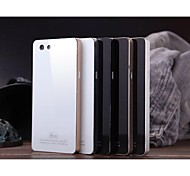 Luphie Tempered Glass Back Cover with Aluminium Metal Bumper Frame for OPPO R1S/R1 (Assorted Colors)