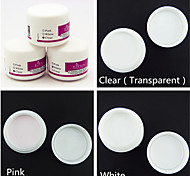 3PCS Same Color Sculpture Carving Acrylic Powder Nail Polymer Nail Art Tips Builder(30g x3,3 Color Choose)