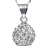 925 Diamond Ball Pendant Necklace