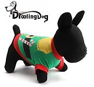 schöne Weihnachtsmann-jr-Muster aus 100% Baumwolle T-Shirt für Hunde (verschiedene Größen)