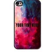 personalizzato phone case - acquerello caso di disegno del metallo per iPhone 4 / 4S