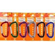 8mm D Shaped Flat Carabiner Keychain Alloy Quick Release (Random Color)