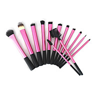13pcs Red Super Soft Taklon Hair Makeup Brush Basic Professional Kit