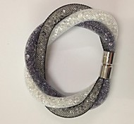Magnetic Stardust Clasp Crystal in Net Mesh Bracelets Christmas Gifts
