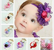 1pc European Headbands With Lovely Lace Flower for Baby