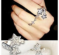 Love Is You Double Star Diamond Band Ring