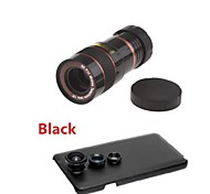 8X Telephoto Lens / Fisheye Lens/ Wide Angle & Macro Lens Kit with Back Case for Samsung Galaxy Note 3 (Assorted Color)