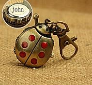 liga personalizado presente joaninha relógio em forma gravado fivela chave