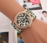 Women's Circular Sexy Leopard Set Auger Belt Watch(Assorted Colors)