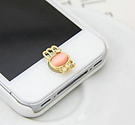 1Pcs Bunnies Opal Rhinestone 1cm Buttons Stickers for iPhone and Others(Random Color)