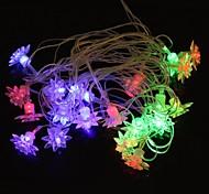 gelo flor 5m 4.8W natal flash de 20 levou-strip luz rgb lâmpada (plug eu, ac 110-220V)