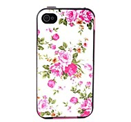 Flowers Pattern Back Case Cover for  iPhone4/4S
